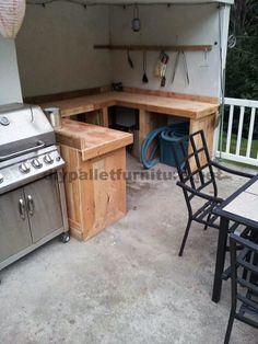 Muebles de Palets: Cocina hecha con tablas de palets