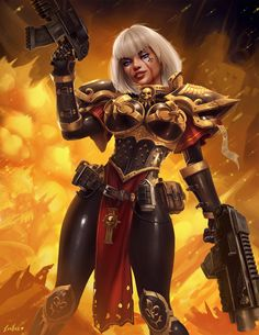 - Image evulart imperium sisters_of_battle Warhammer 40k Figures, Warhammer Art, Warhammer 40000, Warhammer Fantasy, Fantasy Art Women, Fantasy Girl, 40k Sisters Of Battle, 40k Imperial Guard, Sci Fi Characters