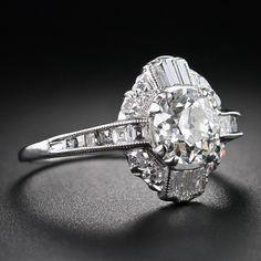 1.08 Carat Art Deco Diamond Ring image 2