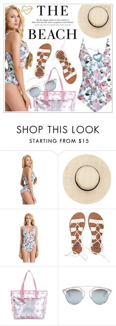 """""""The beach"""" by teoecar ❤ liked on Polyvore featuring H&M, Billabong, New Look, Christian Dior and Tiffany & Co."""