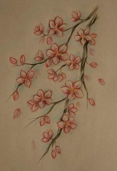 cherry blossom branch simple tattoo - Google Search