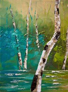 osnat paintings | ... Landscape Tree Painting Original Abstract Modern Palette Knife Osnat