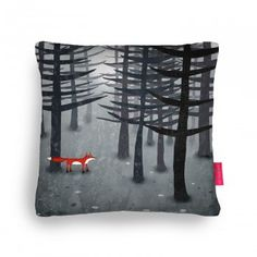 The Fox and the Forest Cushion