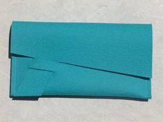 DIY  ArtAK TURQUOISE Wool Felt Clutch, Document Holder or Treasure Envelope. Ideal for Spring & Summer. Handmade Clean Design. 3mm Thick.. $30.00, via Etsy.