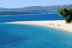 Croatia's most photographed and popular beach is Zlatni Rat [Golden Horn], near Bol town on Brac Island, with its small, smooth white pebbles, azur sea and strangely exciting crescent shape. It does, of course, get busy in the summer, with windsurfers as well as swimmers.