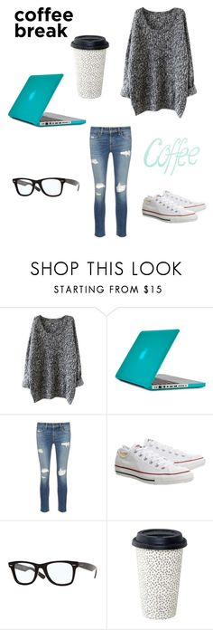 """""""Coffee/study break"""" by freebirdy ❤ liked on Polyvore featuring Speck, rag & bone/JEAN and Topshop"""