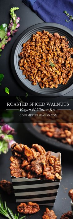 100% #vegan and #glutenfree, these Roasted Spiced Walnuts are one of the easiest, tastiest, and most versatile things you can make at home.
