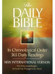 This is my favorite version for reading the Bible through in a year. It is easy to understand b/c it's in chronological order and has daily commentary that helps in understandings the passages.