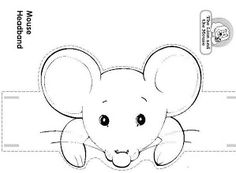 Craft and Color The Lion and the Mouse Headband/ The Mouse. by Luisa Robles The Lion and the Mouse story Headband Crafts, Hat Crafts, Simple Line Drawings, Cute Drawings, Animal Projects, Animal Crafts, Preschool Crafts, Crafts For Kids, Preschool Social Skills