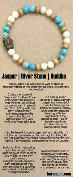 Surfs up ! The BAJA band is a beachy combination of Sea Sediment Jasper (stability | #peace | love | clarity) and River Stone (#freedom | #energy | #strength) with a hand carved Driftwood #Buddha Head as the centerpiece.  ..…..# Love #Beaded #Bracelet #Yoga #Chakra #Mala #Stretch #Meditation #handmade #Jewelry #Energy #Healing #Crystals #Stacks #pulseiras #Bijoux #Handmade #Reiki #Mala #Buddhist #Charm #Mens #Womens….