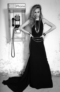 Cara Delevigne perfect prom dress shape and style, would be perfect in red #TopshopPromQueen