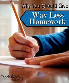 Should kids have less homework