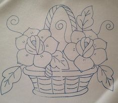Floral Embroidery Patterns, Diy Embroidery, Embroidery Stitches, Quilt Patterns, Embroidery Designs, Pencil Drawings Of Flowers, Art Drawings For Kids, Embroidery Transfers, Quilling Patterns