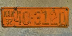 #license #plate #vintage #car #collect #decor
