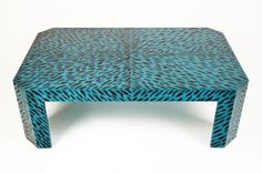 Capri Coffee Table, hand painted faux tortoise, Coleen & Company, $3800.