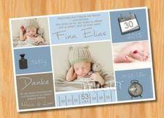 Danksagungskarten Geburt Geburtskarte MUSTER 129 - Bild vergrößern
