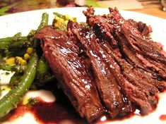 Skirt Steak with Haughty Green Beans