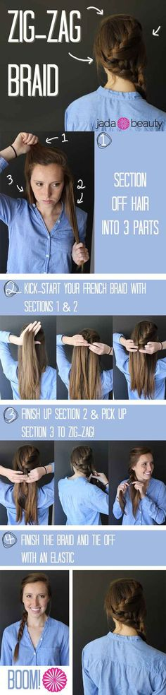 The Zig-Zag Braid | 23 Creative Braid Tutorials That Are Deceptively Easy