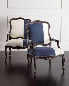 Massoud Michael & Madison Colorblock Bergere Chair Set