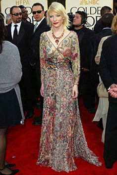 One of my favourite red carpet dresses ever.  Blanchett in Valentino. Look at the detail!