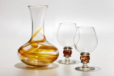 Michael Trimpol and Monique LaJeunesse (Little River HotGlass Studio) Glass Artist Little River, Fine Wine, Skyrim, Wine Decanter, Artist At Work, Wines, Different Colors, Glass Art, Sunshine