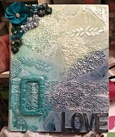 Lin's mixed media art Book cover