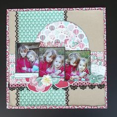lovely autumn layout from lindsay artful crafts