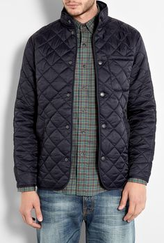 barbour outlet store - Barbour Mens Hartland Quilted Jacket - Navy outlet store