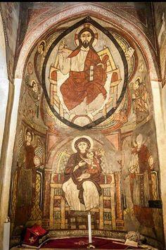 صور من دير القديس الأنبا أنطونيوس بالبحر الأحمر Byzantine Icons, Byzantine Art, St Anthony's, Church Design, Cathedral Church, Celtic Designs, Orthodox Icons, Medieval Art, Sacred Art