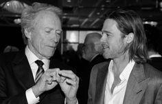 Clint Eastwood & Brad Pitt