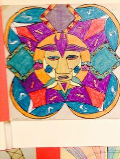 Fifth grade Mayan sun calendar project
