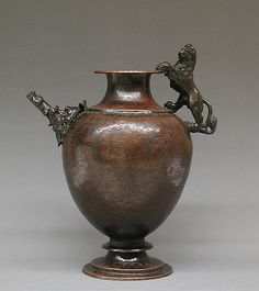 Ewer, second half 16th century, Italian (Venice), Copper, bronze