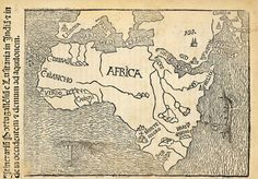 Montalboddo's Africa - this 1508 woodcut is one of the first printed maps of Africa.