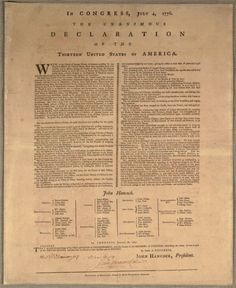 Declaration of Independence page - read the text, learn some fun facts about this important document from American History.
