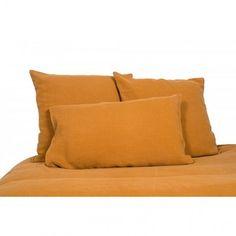 Housse de couette lin lavé stone wash Viti - Alezan - Harmony textile