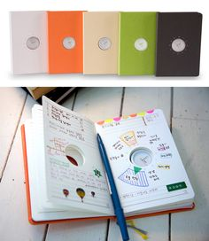 a desk planner with your clock built right in so you can literally plan around it.