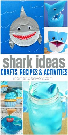25+ Fun Shark Ideas - Shark Crafts, Recipes, and Activities!