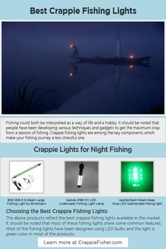 Crappie Fishing Lights: The durability of the lights is crucial as it is being floated or submerged into the water. It is also important to check the power of the light. Also, it is equally important to consider the waterproof capacity and the durability of the light. Crappie Fishing Tips, Fishing Lights, Floating Lights, Water, Check, Gripe Water, Hanging Lanterns