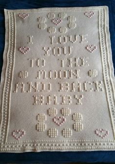 Ravelry: Moon and Back Crib Afghan by Nancy Liggins