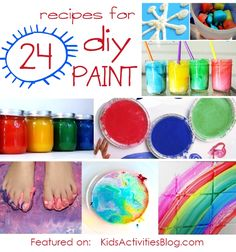 24 recipes to make paint for your kids