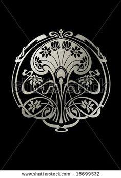 Art nouveau tattoo floral black 41 Ideas for 2019 Motifs Art Nouveau, Design Art Nouveau, Motif Art Deco, Art Nouveau Pattern, Art Design, Art Nouveau Tattoo, Tatuagem Art Nouveau, Tattoo Art, Art Inspo