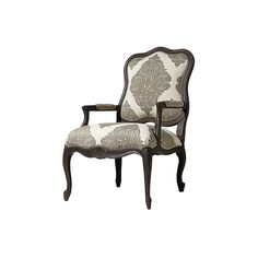 """Tenley 28"""" Upholstered Chair in Mansion Pewter ($1,299) ❤ liked on Polyvore featuring home, furniture, chairs, accent chairs, upholstered furniture, fabric armchairs, nailhead accent chair, fabric arm chair and nailhead furniture"""