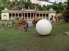 """Portmeirion, Wales, as """"The Village"""" in the 1967 British TV series, """"The Prisoner"""" Service Secret, Avengers Series, Holiday Hotel, Film Studio, Weird Stories, Classic Tv, British Isles, Film Movie, Tv Series"""