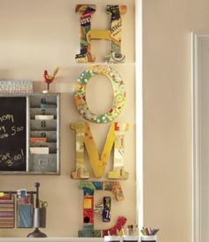 How easy would it be to do this with either wood or papier mache letters covered with old magazine pages, scrapbook paper, maps, etc.?