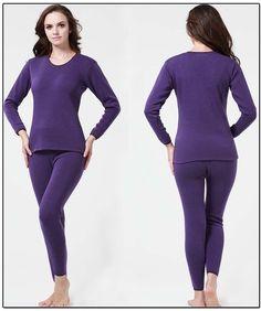 Free shiping 2015 Women autumn winter thermal long Johns Women two color underwear Women polyester warm long Johns