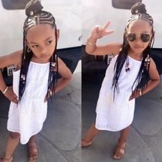 Perfect Kids Hairstyles For Summer Days - Braids Hairstyles for Black Kids Little Girl Braids, Black Girl Braids, Braids For Kids, Girls Braids, Little Girl Braid Styles, Kid Braids, Baby Girl Hairstyles, Kids Braided Hairstyles, Black Girls Hairstyles