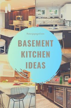 Though in reality, many tend to leave the basement unkempt. Instead of being specially-functioned, may be a good to change it become basement kitchen ideas. Small Basement Bars, Small Basement Kitchen, Wet Bar Basement, Basement Kitchenette, Basement Bar Designs, Rustic Basement, Modern Basement, Kitchen On A Budget, Basement Ideas
