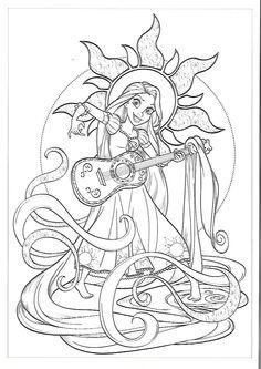 ausmalbild disney laternen rapunzel adultcoloringpages | ausmalbilder disney, ausmalbilder