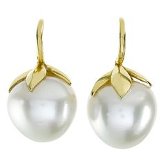 1stdibs - Large South Sea Pearl Gold Fruit Earrings explore items from 1,700  global dealers at 1stdibs.com