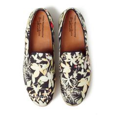 OXFORD BOTANICAL PRINT VIBRAM SOLE OPERA SHOES